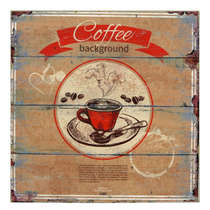 Placa MDF - Coffee Background