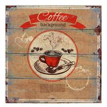 Placa MDF - Coffee Background