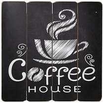 Placa MDF - Coffee House - 40x40 cm