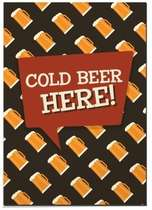 Placa MDF Cold Beer Here - 44 x 30 cm