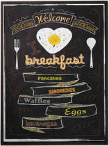 Placa MDF - I love breakfast - 40x30 cm