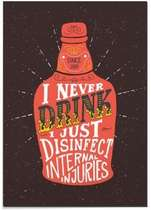 Placa MDF - I never drink- 30x44 cm