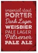 Placa MDF - Porter Pilsener Dark Lager - 30x44 cm