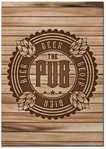 Placa MDF - The Pub - 30x44 cm