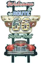 Placa MDF - Welcome to the Route 66 - 60x39 cm