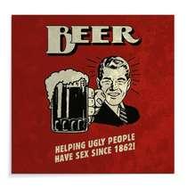 Placa Madeira MDF Beer - 29x29 cm
