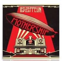 Placa Madeira MDF Led Zeppelin Mothership - 29x29 cm