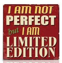 Placa Madeira MDF Limite Edition - 29x29 cm