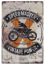 Placa Madeira Speed Master  - 40 x30 cm