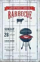 Placa Madeira - Barbecue - 60 x 40 cm