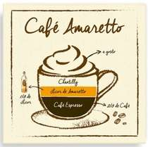 Placa Metal Café Amaretto  - 20 x 20 cm
