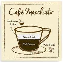Placa Metal Café Macchiato  - 20 x 20 cm