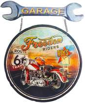 Placa Metal Freedom Route 66
