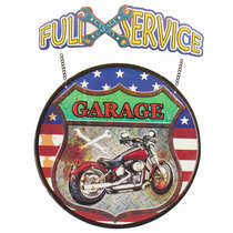 Placa Metal Full Service Garage