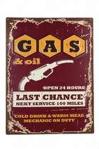 Placa Metal GAS em relevo