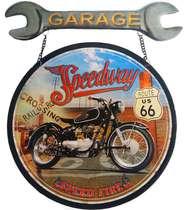 Placa Metal Garage Speedway