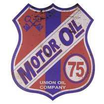Placa Metal Motor Oil - 33 x 30 cm