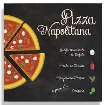 Placa Metal Pizza Napolitana  - 20x20cm