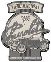 Placa Metal Recortada Garage - Vintage Muscle Cars - 40 cm