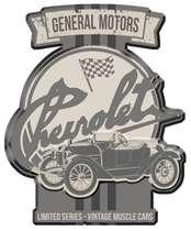 Placa Metal Recortada Garage - Vintage Muscle Cars - 40 cm