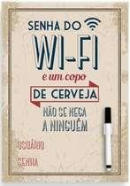 Placa Metal Senha Wi-Fi - 21 x 30 cm