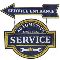Placa Metal Vintage Automotive Service