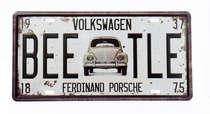 Placa Metal Vintage Ferdinand Porsche - Coleção Nova