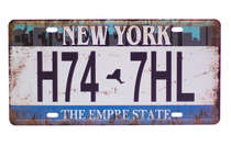 Placa Metal Vintage New York H74 7HL