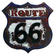 Placa Metal Vintage Route 66