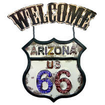 Placa Metal Vintage Welcome Arizona