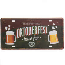 Placa Metal Vintage - Oktoberfest