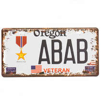 Placa Metal Vintage - Oregon