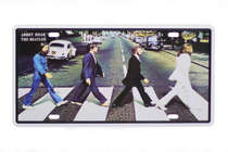 Placa Metal Vintage - Abbey Road