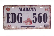 Placa Metal Vintage - Alabama