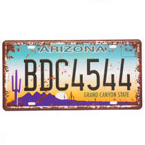 Placa Metal Vintage - Arizona