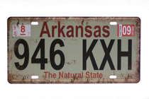 Placa Metal Vintage - Arkansas