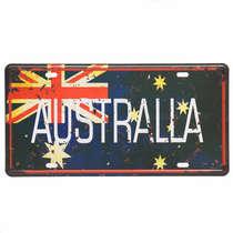 Placa Metal Vintage - Australia
