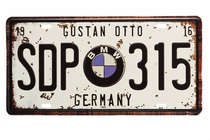Placa Metal Vintage - BMW Germany