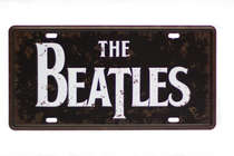 Placa Metal Vintage - Beatles Logo