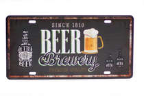 Placa Metal Vintage - Beer Brewery