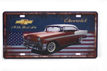 Placa Metal Vintage - Bel Air 1956