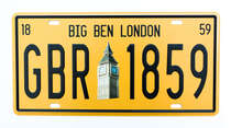Placa Metal Vintage - Big Ben