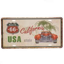 Placa Metal Vintage - California