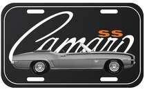 Placa Metal Vintage - Camaro SS Chevrolet
