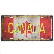 Placa Metal Vintage - Canada
