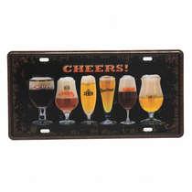 Placa Metal Vintage - Cheers
