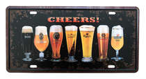 Placa Metal Vintage - Cheers