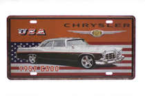 Placa Metal Vintage - Chrysler C300