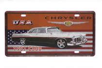 Placa Metal Vintage - Chrysler C300