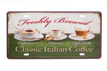 Placa Metal Vintage - Classic Italian Coffee